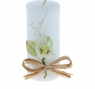 Свеча восковая с декором Цветок, цвет белый