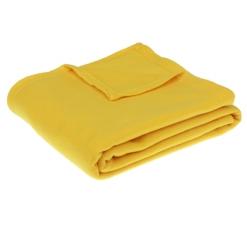 Плед Collorista жёлтый 130*170 см, 100% п/э, флис, 140 гр/м2