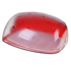 Хлебница Беросси, красная прозрачная