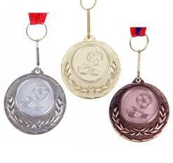 Медаль тематическая 034 Футбол золото