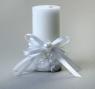 Свеча восковая Бантик, цвет белый