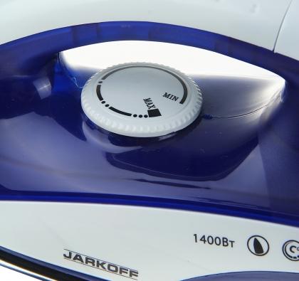 Утюг электрический Jarkoff JK-801Sb, 1400 Вт, нержавеющая сталь, синий