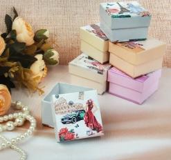 Коробочка подарочная под кольцо Леди, 5*5*3,5, цвет МИКС, вставка белая