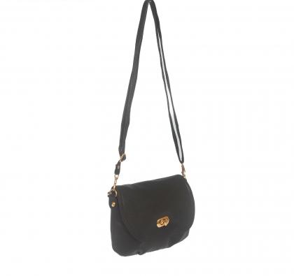 Сумка женская Карин, 1 отдел, 1 наружный карман, длинный ремень, чёрный матовый
