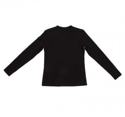Футболка гимнастическая, с длинным рукавом, размер 30, цвет чёрный