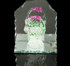 Сувенир Корзинка на зеркале