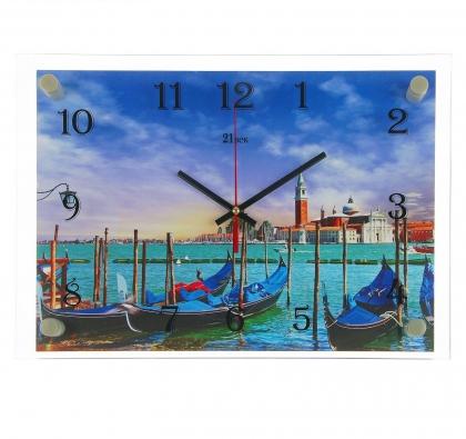Часы настенные, серия: Море, Лодочная станция, 25х35  см, микс