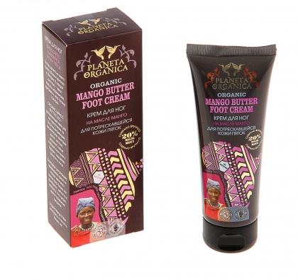 Крем для ног Planeta Organica для потрескавшейся кожи пяток с маслом манго, 75 мл