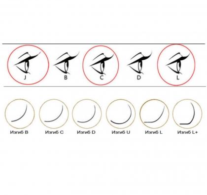 Набор ресниц для наращивания, 9, 11, 13 мм, толщина 0,15 мм, изгиб D, 12 рядов, цвет чёрный
