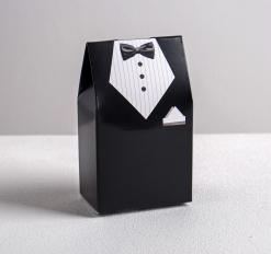 Бонбоньерка свадебная «Костюм жениха», 5.8 * 10 см