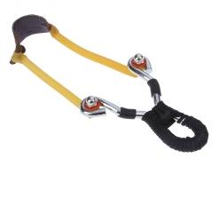 Рогатка двойной жгут ушки круг рукоять шнур, с шариками