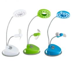 USB светильник LuazON, вентилятор, 12 LED, USB, МИКС