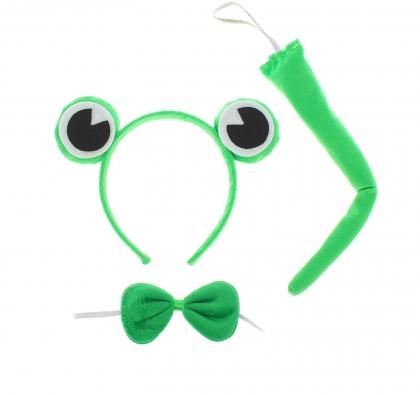 Карнавальный набор Лягушка 3 предмета: ободок, бабочка, хвост
