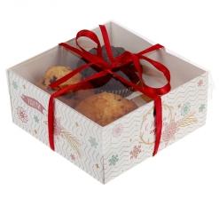 Коробочка для кексов Удачи и счастья!, 16 х 16 х 7,5 см