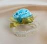 Бутоньерка на руку Цветы 5см, голубая