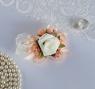 Повязка на руку для подружек невесты «Роза», на резинке, персиковая
