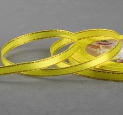 Лента атласная «Золотые нити», 6 мм * 23 ± 1 м, цвет жёлтый №015