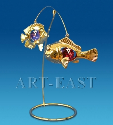 AR-4317 Фигурка  Пара рыбок  с цв.кр.  Юнион