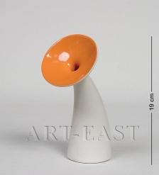 Ваза 2638-5 White/Orange  Ocean Ceramics