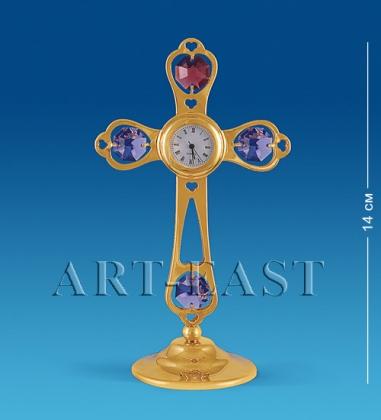 AR-3563/ 6 Фигурка с часами Крест с цв.кр.  Юнион
