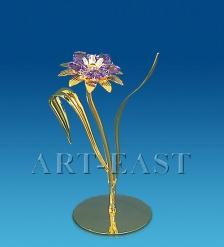 AR-4311/ 1 Фигурка  Цветок с двумя листочками  с цв.кр.  Юнион