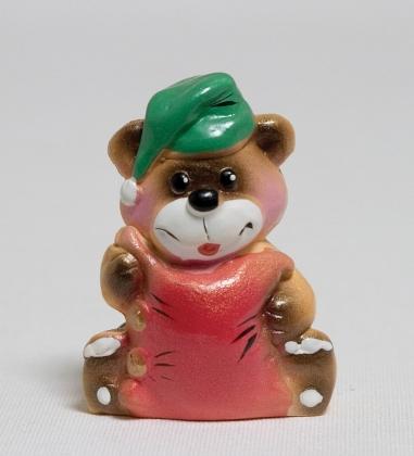 15715 Фигурка гипсовая «Мишка с подушкой»