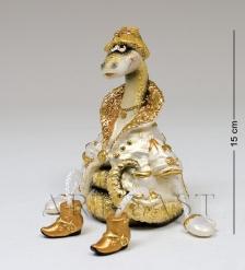 15881 Фигурка гипсовая «Змея в пальто» зол.