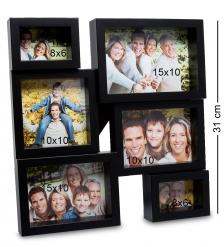 CHK-138 Панно-фоторамка «Семейная история»  на 6 фото: 8х6, 10х10, 15х10