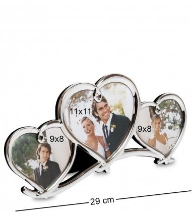 CHK-036 Фоторамка Влюбленные сердца  на 3 фото: 9х8, 11х11
