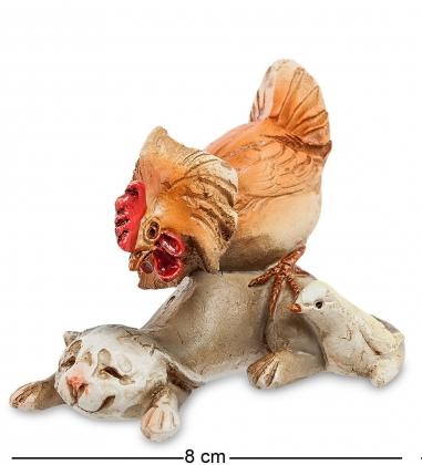ED-122 Фигурка «Котенок с петухом - «Так кто хозяин во дворе?!»