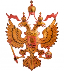 ХЛ-014 Герб резной  Хохлома