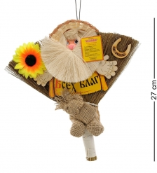 DO-079 Домовик-оберег Метелка в соломенной шляпе - Вариант A