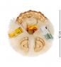 DO-022 Домовик магнит в соломенной шляпе мал. - Вариант A