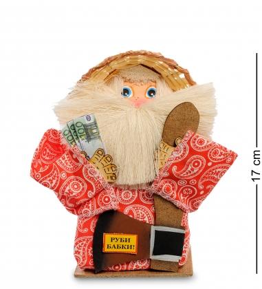DO-043/ 8 Домовой Тимофей с топором и дровами - Вариант A