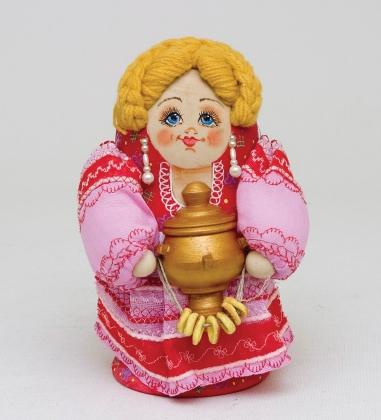 МР-29/ 6 Матрешка-Кукла  Девушка с самоваром