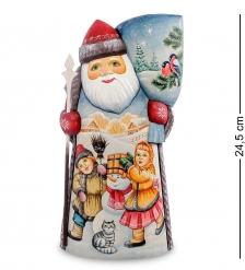 РД-45 Фигурка Дед Мороз с мешком  Резной  24см