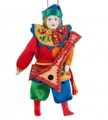 RK-651 Кукла подвесная  Скоморох с балалайкой