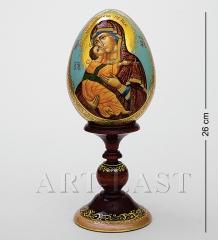 ИКО- 4 Яйцо-икона  Владимирская Божья Матерь  Борисова А.