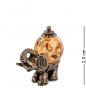 AM- 549 Фигурка  Слон индийский   латунь, янтарь