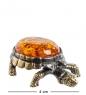 AM- 607 Фигурка  Черепаха   латунь, янтарь