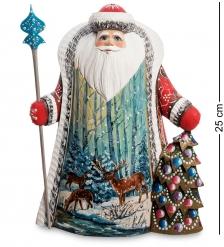 РД-28 Фигурка Дед Мороз с елкой  Резной  25см