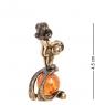 AM- 313 Фигурка  Знак зодиака - Водолей   латунь, янтарь