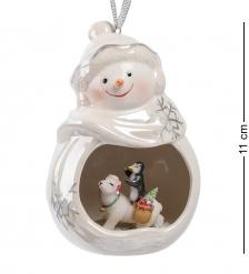 CMS-39/12 Фигурка подвесная  Веселый снеговик   Pavone