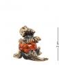 AM- 274 Фигурка  Дракон  мал.  латунь, янтарь