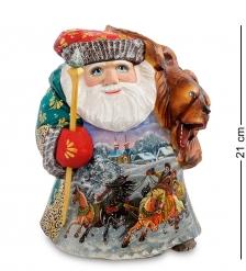 РД-39 Фигурка Дед Мороз с медведем  Резной  21см