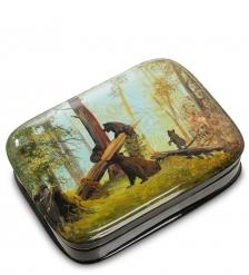 ШК-80/19 Шкатулка  Утро в сосновом лесу