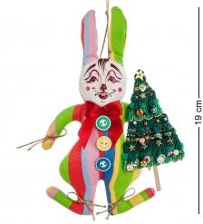 RK-456 Кукла подвесная Кролик с елкой - Вариант A