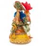RK-404/1 Кукла малая  Солдат на петухе