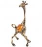 AM- 294 Фигурка  Жираф   латунь, янтарь