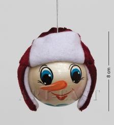 Елочная игрушка «Снеговик» бол.